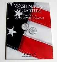 HE-Harris 2006 Complete Year Washington State Quarters Coin Folder Coin Collecting Book #2589