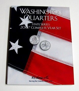 HE-Harris 2007 Complete Year Washington State Quarters Coin Folder Coin Collecting Book #2590