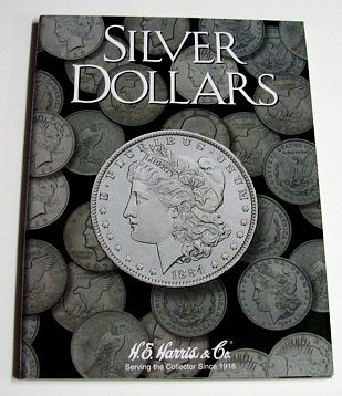 H.E. Harris Silver Dollar Plain Coin Folder -- Coin Collecting Book and Supply -- #2665