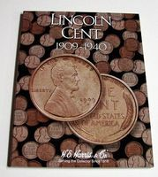 HE-Harris Lincoln Cent 1909-1940 Coin Folder Coin Collecting Book and Supply #2672