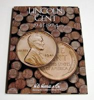 HE-Harris Lincoln Cent 1941-1974 Coin Folder Coin Collecting Book and Supply #2673