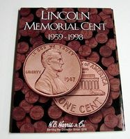 HE-Harris Lincoln Memorial Cent 1959-1998 Coin Folder Coin Collecting Book and Supply #2675
