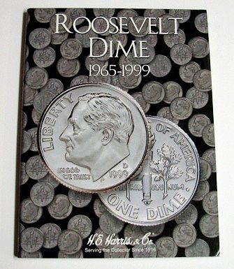 H.E. Harris Roosevelt Dime 1965-1999 Coin Folder -- Coin Collecting Book and Supply -- #2685