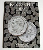 HE-Harris Roosevelt Dime 1965-1999 Coin Folder Coin Collecting Book and Supply #2685