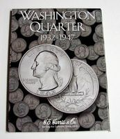 HE-Harris Washington Quarter 1932-1947 Coin Folder Coin Collecting Book and Supply #2688