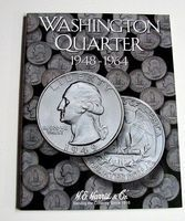 HE-Harris Washington Quarter 1948-1964 Coin Folder Coin Collecting Book and Supply #2689