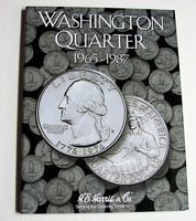 HE-Harris Washington Quarter 1965-1987 Coin Folder Coin Collecting Book and Supply #2690