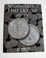 HE-Harris Walking Liberty Half Dollar 1937-1947 Coin Folder Coin Collecting Book and Supply #2694