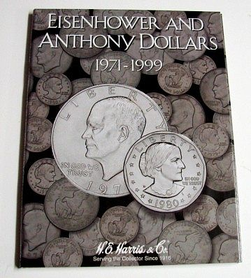 HE-Harris Eisenhower & Anthony Dollars 1971-1999 Coin Folder Coin Collecting Book and Supply #2699