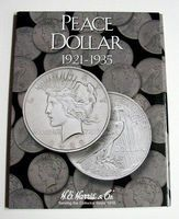 HE-Harris Peace Type Dollar 1921-1935 Coin Folder Coin Collecting Book and Supply #2709