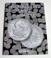 HE-Harris Roosevelt Dime 2000-2005 Coin Folder Coin Collecting Book and Supply #2941