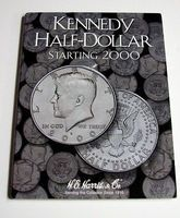 HE-Harris Kennedy Half Dollar 2000-2005 Coin Folder Coin Collecting Book and Supply #2942