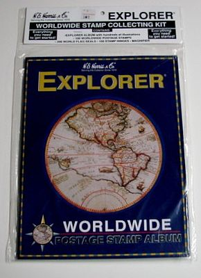 H.E. Harris Explorer World Wide Stamp Collecting Kit -- Stamp Collecting Supply -- #l107