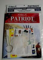 HE-Harris Patriot US Stamp Collecting Kit (64pg) Stamp Collecting Supply #l115