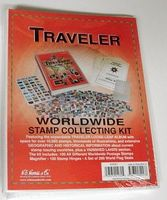 HE-Harris Traveler World Wide Stamp Collecting Kit Stamp Collecting Supply #l175