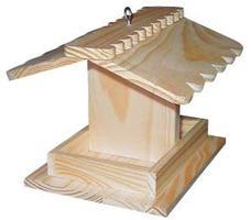 Hobby-Express Bird Feeder Kit with PD Holes Wooden Bird House Kit #60001pd
