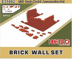 Hero-Hobby 1/35 Brick Wall Set (60pcs)