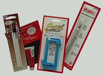 Hobbylinc Basic Hobby Kit -- Miscellaneous Hand Tool Assortment -- #kit-01