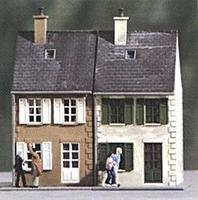 Heljan Street Houses Kit (2) HO Scale Model Railroad Building #155