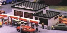 Heljan Modern Gas Station Kit HO Scale Model Railroad Building #1776
