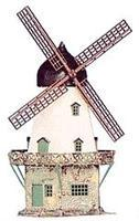Heljan Old Windmill Kit (4 10cm Square) HO Scale Model Railroad Building #201