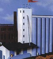 Heljan Midwestern United States Grain Elevator Kit HO Scale Model Building #806