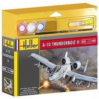 Heller A10 Thunderbolt II Aircraft Plastic Model Airplane Kit 1/144 Scale #49073