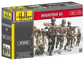 Heller US Infantry Plastic Model Military Figure 1/72 Scale #49601