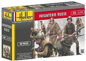 Heller Russian Infantry Plastic Model Military Figure Kit 1/72 Scale #49603