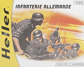 Set of 48 1//72 Scale Heller German Infantry Model Kit