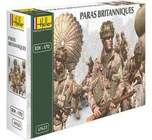 Heller British Paratroopers Plastic Model Military Figure Kit 1/72 Scale #49623