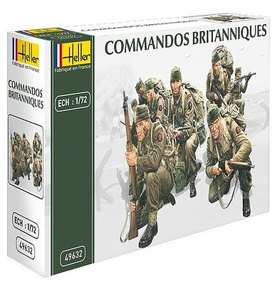 Heller British Commandos Plastic Model Military Figure Kit 1/72 Scale #49632