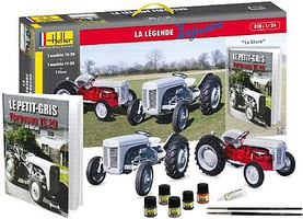 Heller Ferguson TS20 & FF30 Farm Tractors Plastic Model Airplane Kit 1/24 Scale #52323
