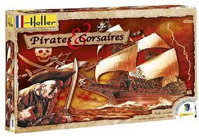 Heller Pirates & Corsaires Ship Plastic Model Sailing Ship Kit 1/200 Scale #52703