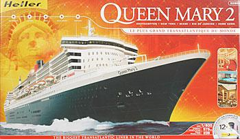 Queen Mary 2 Plastic Model Commercial Ship Kit 1 600 Scale