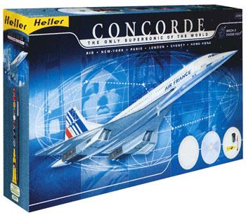 Heller Concorde Supersonic Air France Airliner -- Plastic Model Airplane Kit -- 1/72 Scale -- #52903