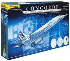Heller Concorde Supersonic Air France Airliner Plastic Model Airplane Kit 1/72 Scale #52903