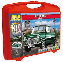 Heller Austin Mini Complete Set Plastic Model Car Kit 1/43 Scale #60153