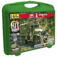 Heller GMC CCKW 353 Truck & US Infantry Plastic Model Military Vehicle Kit 1/72 Scale #60996