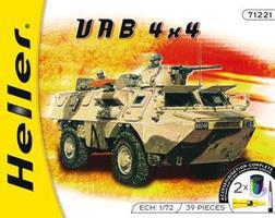 Heller VAB 4x4 Armored Plastic Model Military Vehicle Kit 1/72 Scale #79898
