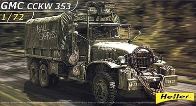 Heller GMC CCKW 353 Military Truck Plastic Model Military Vehicle Kit 1/72 Scale #79996