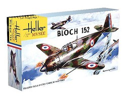 Heller Bloch 152C1 WWII French Fighter Plastic Model Airplane Kit 1/72 Scale #80211