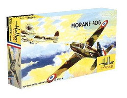 Heller Morane 406C1 WWII French Fighter Plastic Model Airplane Kit 1/72 Scale #80213