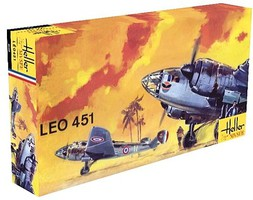 Heller Leo 451 WWII French Bomber Plastic Model Airplane Kit 1/72 Scale #80389