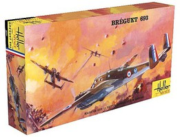 Heller Breguet 693/2 WWII French Ground Attack Plane Plastic Model Airplane Kit 1/72 Scale #80392