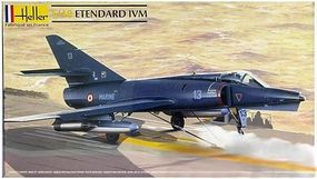 Heller Etendard IV M Fighter Plastic Model Airplane Kit 1/48 Scale #80425