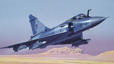 Heller Mirage 2000C Fighter -- Plastic Model Airplane Kit -- 1/48 Scale -- #80426