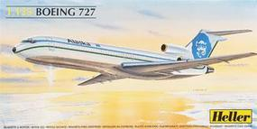 Heller B727 Air France Commercial Airliner Plastic Model Airplane Kit 1/125 Scale #80447