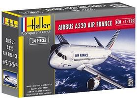 Heller Airbus A320 Plastic Model Airplane Kit 1/125 Scale #80448