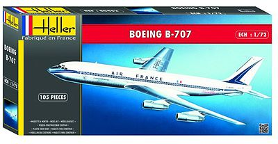 Heller B707 Air France Commercial Airliner Plastic Model Airplane Kit 1/72 Scale #80452